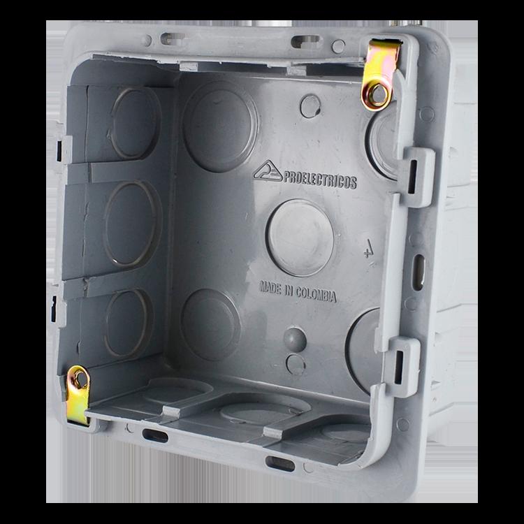 Caja plástica Cuadrada proelectricos